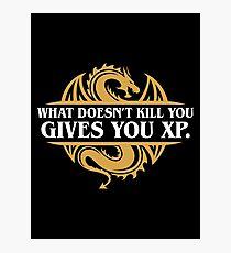 Lámina fotográfica Lo que no te mata te da jugadores RPG XP