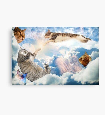 Heavenly Cats Canvas Print