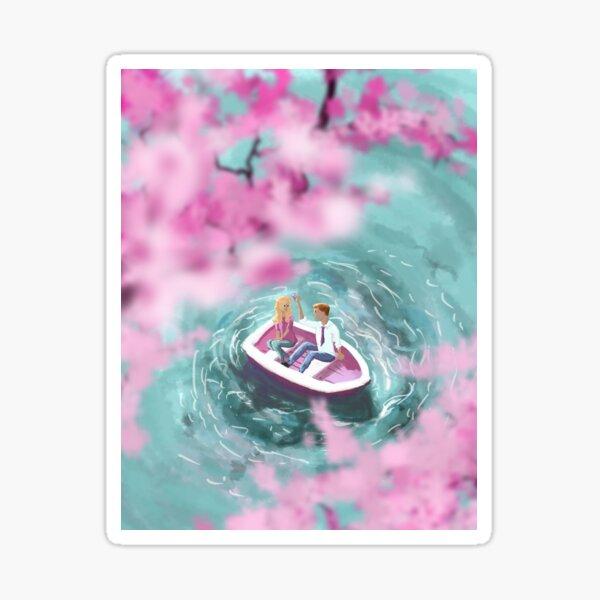 Cherry Blossom Romance Sticker