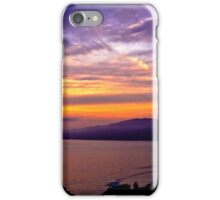 Sunset over the Point Dume , CA iPhone Case/Skin