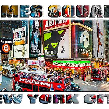 Times Square New York City (widescreen poster on white) by RayW