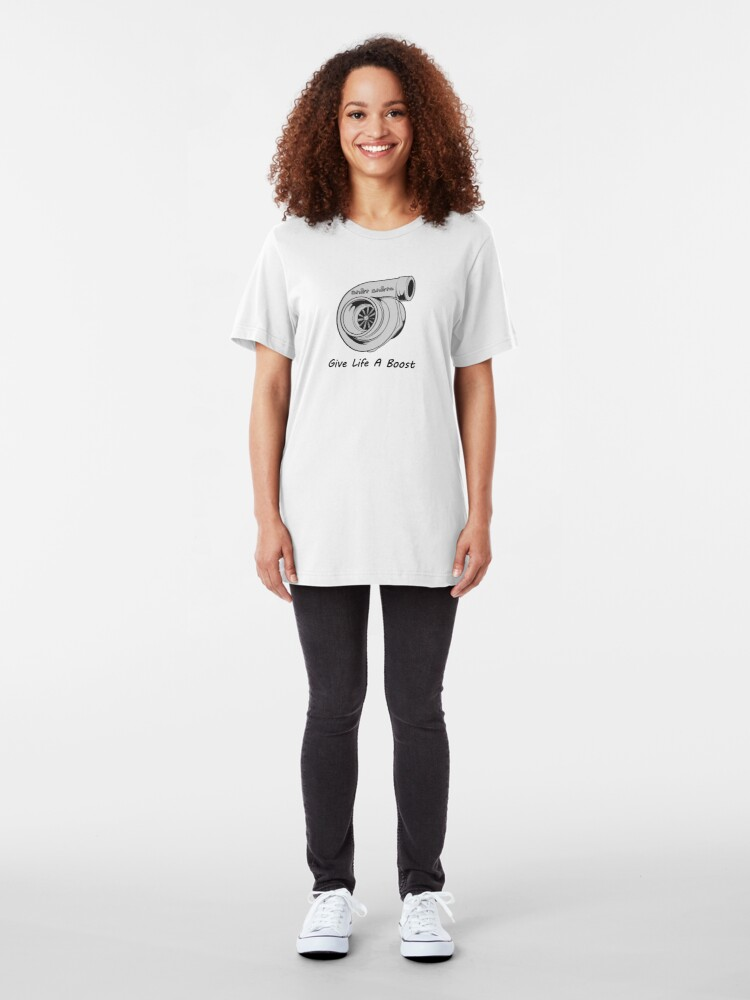 Alternate view of Life Coach - Turbo Boost Inspired Slim Fit T-Shirt