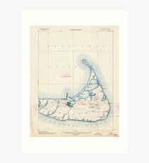 Massachusetts  USGS Historical Topo Map MA Nantucket 352875 1901 62500 Art Print