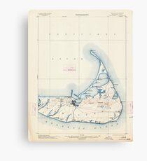 Massachusetts  USGS Historical Topo Map MA Nantucket 352875 1901 62500 Canvas Print