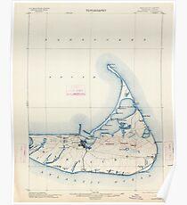 Massachusetts  USGS Historical Topo Map MA Nantucket 352875 1901 62500 Poster