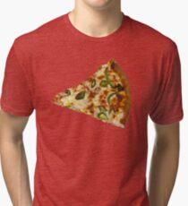 Spicy Pizza Slice Tri-blend T-Shirt