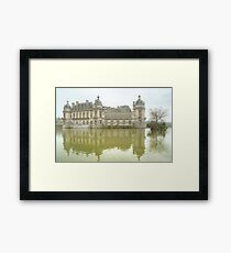 Reflecting On Chateau De Chantilly Framed Print