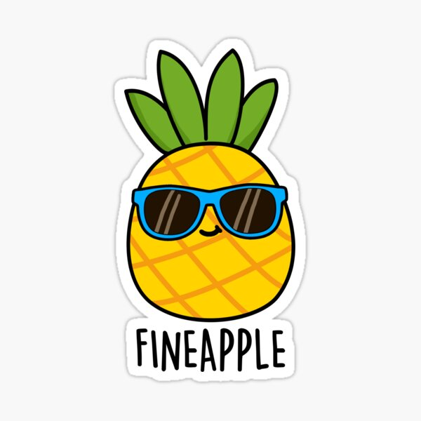 Fineapple Fruit Food Pun Sticker
