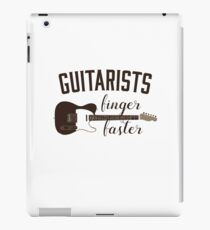 Guitarists Finger Faster Funny Musician iPad Case/Skin