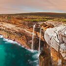 Curracurrong Falls, Eagle Rock, Royal National Park, New South Wales, Australia by Michael Boniwell