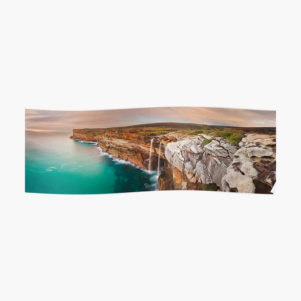 Curracurrong Falls, Eagle Rock, Royal National Park, New South Wales, Australia Poster