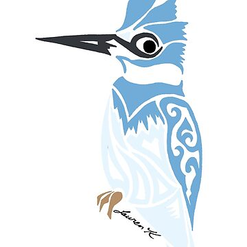 Belted KingFisher Colored by KitayamaDesigns