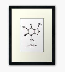 Caffeine Molecule Framed Print