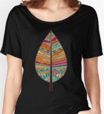 Tribal Leaf  Women's Relaxed Fit T-Shirt