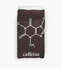 Caffeine Molecule Duvet Cover