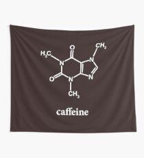 Koffein-Molekül Wandbehang