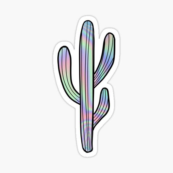 Iridescent Cactus Sticker