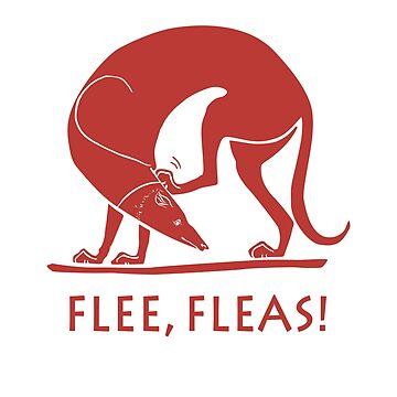 Ancient Greek Art Spartan Greyhound Hunting Dog, Flee, Fleas by brodyquixote