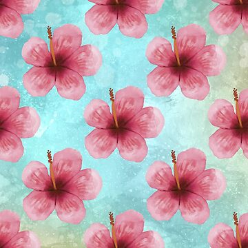 Tropical Flower Pattern by BohoFruits