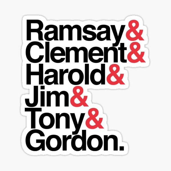 Labour Prime Ministers Helvetica Sticker