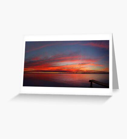 Swan River Sunset (Multi Row Panorama)  Greeting Card