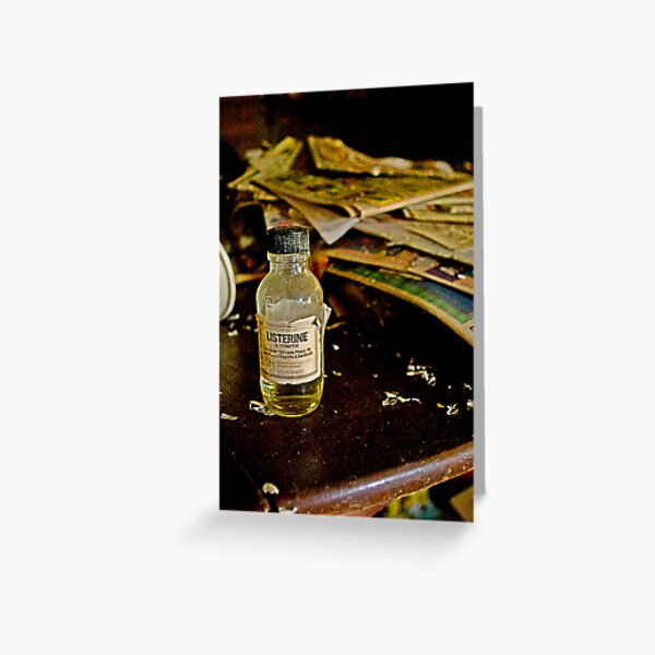 Old Glass Listerine bottle Greeting Card