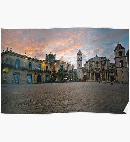 Cathedral de san Cristobal, Havana, Cuba Poster