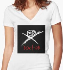 Red Doctor Women's Fitted V-Neck T-Shirt