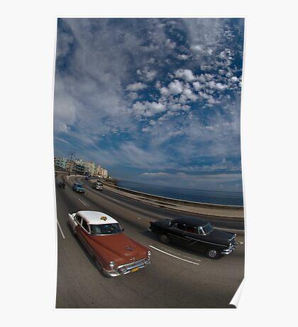 Malecon, Havana, Cuba Poster