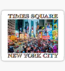 Times Square Tourists (poster on white) Sticker