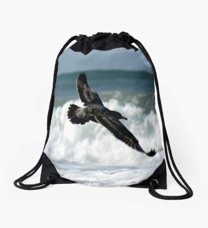 Spread your wings; So. Morro Bay, California, USA  Drawstring Bag