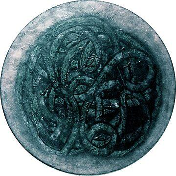 Blue Green Serpent Symbol by SpieklyArt