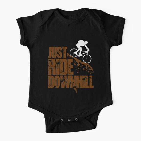 Downhill Bicycle - Just Ride Downhill Short Sleeve Baby One-Piece