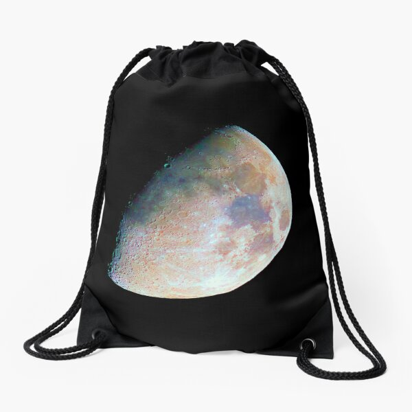 The moon in colour Drawstring Bag