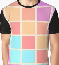 A Swatch-work Quilt - colour chart  (Pastel, without a baby pink in sight) Graphic T-Shirt