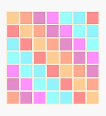 A Swatch-work Quilt - colour chart  (Pastel, without a baby pink in sight) Photographic Print