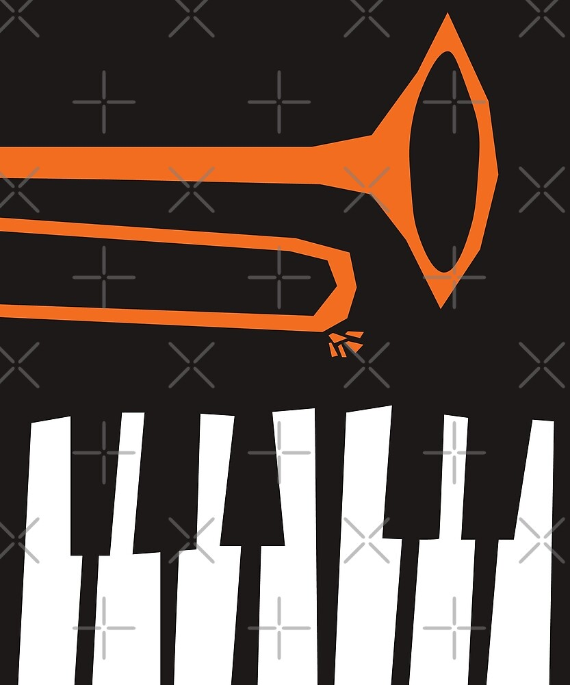 Jazz Trombone and Piano by designkitsch