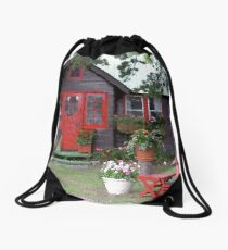 The Red House Drawstring Bag