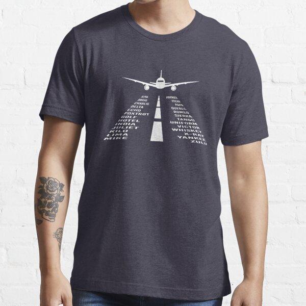 Airplane Phonetic Alphabet | Pilot Gift Essential T-Shirt