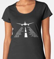 Airplane Phonetic Alphabet | Pilot Gift Women's Premium T-Shirt