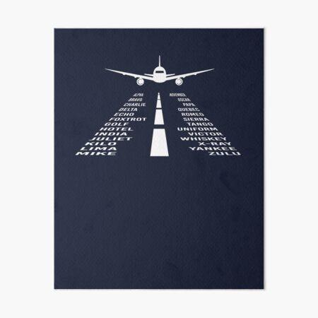 Airplane Phonetic Alphabet | Pilot Gift Art Board Print