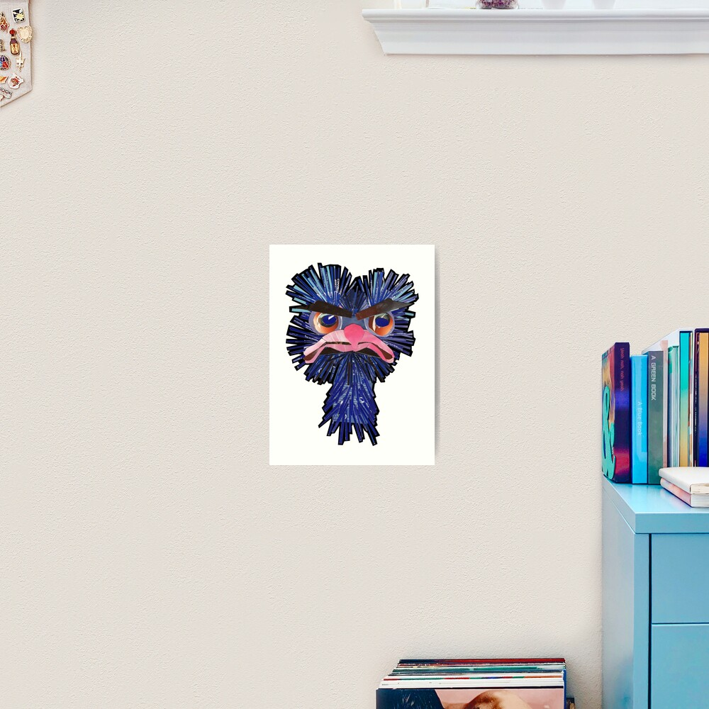 Angry Ostrich Art Print