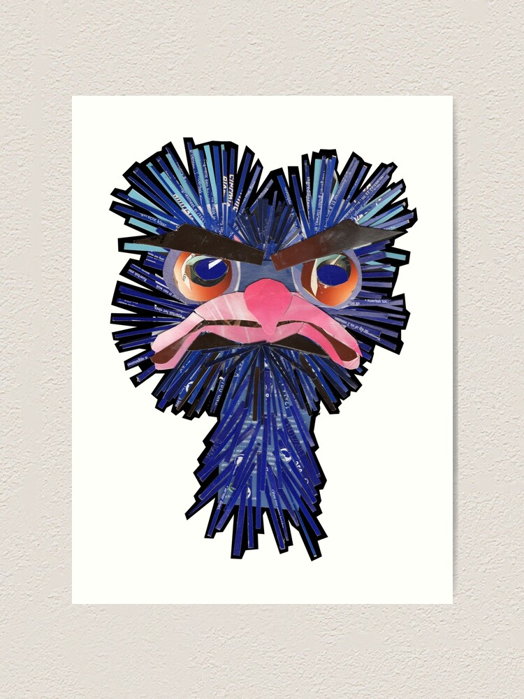 Alternate view of Angry Ostrich Art Print
