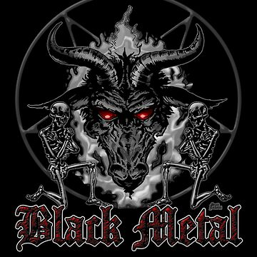 Black Metal Music Baphomet Pentagram by themonsterstore