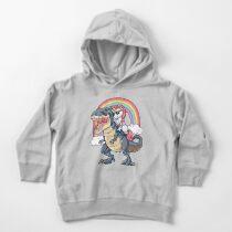Sudadera con capucha para bebé Unicornio Riding Dinosaurio T-shirt T-Rex Divertido Unicornios Partido Rainbow Squad Regalos para Niños Niños Niñas