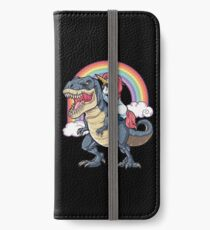 Unicorn Riding Dinosaur T Shirt T-Rex Funny Unicorns Party Rainbow Squad Gifts for Kids Boys Girls iPhone Wallet/Case/Skin