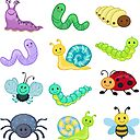 """Big Bundle set. Bugs clipart, Cute Bugs."""" Poster by Sandytov ..."""