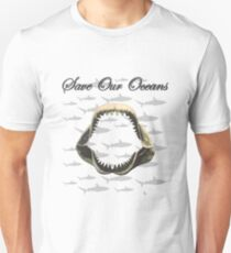 Shark Jaw - Save Our Oceans Unisex T-Shirt