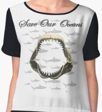 Shark Jaw - Save Our Oceans Chiffon Top