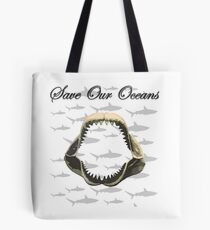 Shark Jaw - Save Our Oceans Tote Bag